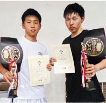 幼少期から練習をともにした弟の力也さん(写真左)。力也さんも同大会の60kg級で優勝。大会3連覇を果たしました