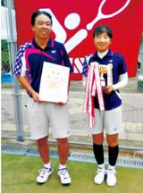 優勝した大会でペアを組んだ長野市の依田教夫さんと