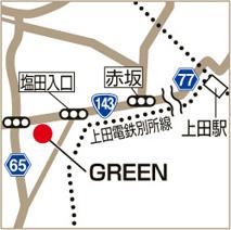 GREENの地図
