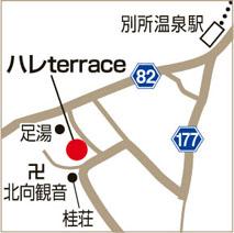 ハレterraceの地図