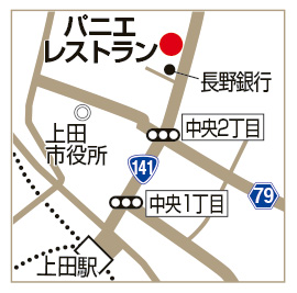 パニエ レストランの地図