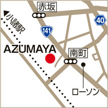 AZUMAYAの地図