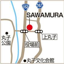 SAWAMURAの地図