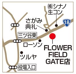 FLOWER FIELD GATE店の地図