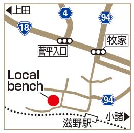 Local benchの地図
