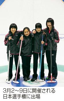 3月2〜9日に開催される日本選手権に出場