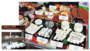 工房では13〜14種類のチーズを製造。茨城牧場長野支場のヤギミルクで作ったチーズも